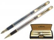 Набор REGAL из перьевой ручки и ручки-роллера в пробковом футляре,  (R12207.A.RF)