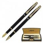 Набор REGAL из перьевой ручки и ручки-роллера в пробковом футляре,  (R12223.L.RF)