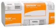 Полотенца бумажные KATRIN BASIC  Zig Zag,  светло-серые (Финляндия),  100669