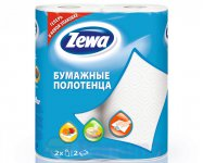 Полотенца бумажные  ZEWA кухонные, белые
