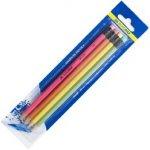 Набор карандашей «НЕОН» (НВ) с ластиком (4шт.),  BM.8521