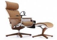 Кресло - реклайнер NUVEM LUX (кожа коричневая)
