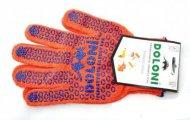 Перчатки  DOLONI  вязка в 3 нити (ладошкас ПВХ рисунком, пара), 526