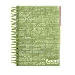Блокнот с разделителями, А5, 120 листов, клетка, зеленый (8405-03-A)