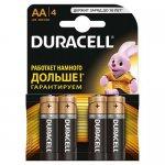 Эл.питания (батарейка) DURACELL, LR6 (AA), 4шт упаковка, (s.52536)