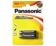 Эл.питания (батарейка) Panasonic ALKALINE POWER, LR3 (АAA),  (LR03REB/2BP)