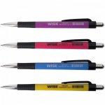 (АКЦИЯ !)  Ручка шариковая автоматическая WISE 0,7мм, синяя