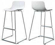 Барный пластиковый стул Petal (Петл) Concepto, белый