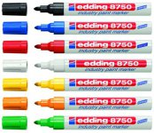 Маркер Edding Industry Paint e-8750,  2-4 мм, ассорти (е-8750/ хх)