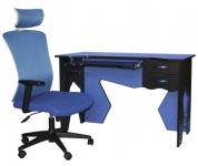 Рабочая станция (стол+кресло) Barsky Homework Blue HG-01/BM-05