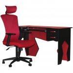 Рабочая станция (стол+кресло) Barsky Homework Red HG-02/BM-01