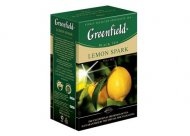 Чай черный Greenfield LEMON  SPARK, black tea, list, 100 гр