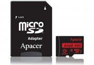 Карта памяти Apacer microSDXC 64GB UHS-I U1+adapter (R85MB/s)