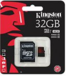 Карта памяти Kingston microSDHC 32 Gb UHS-I +adapter U3 (R90, W80MB/s)