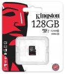 Карта памяти Kingston microSDXC 128 Gb UHS-I no ad U1 (R45, W10MB/s)