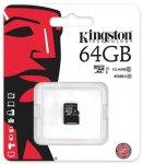 Карта памяти Kingston microSDXC 64 Gb UHS-I no ad U1 (R45, W10MB/s)