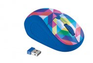 Мышь компьютерная Trust Primo Wireless Mouse Blue Geometry (21480 )