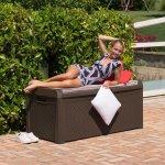 Комод мультифункциональный с подушкой Santorini Plus 550 л, коричневый, 148x72x64h см, TOOMAX