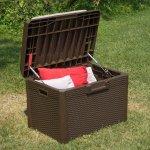 Комод мультифункциональный с подушкой Santorini Plus 125 л, коричневый, 73x50,5x49,5h см, TOOMAX
