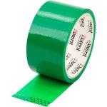 Лента клейкая упаковочная зеленая, ширина 48 мм, длина 35 м. Толщина 40 мкм.Упаковка - запайка .