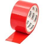 Лента клейкая упаковочная красная, ширина 48 мм, длина 35 м. Толщина 40 мкм.Упаковка - запайка .
