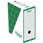 Бокс архивный из гофрокартона. Размер 350*255*80мм. Цвет: зеленый. Упаковка: пакет.