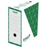 Бокс архивный из гофрокартона. Размер 350*255*100мм. Цвет: зеленый. Упаковка: пакет.