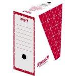 Бокс архивный из гофрокартона. Размер 350*255*100мм. Цвет: красный. Упаковка: пакет.