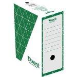 Бокс архивный из гофрокартона. Размер 350*255*150мм. Цвет: зеленый. Упаковка: пакет.