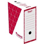 Бокс архивный из гофрокартона. Размер 350*255*150мм. Цвет: красный. Упаковка: пакет.