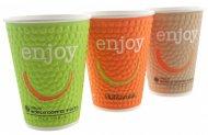 Стакан для горячих напитков Huhtamaki Enjoy, 250мл, 37 шт, термо- бумага (DW9)