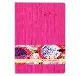Блокнот деловой COLOR TUNES А5, 96л., чистый, обложка искусственная кожа, розовый