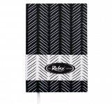 Блокнот деловой RELAX А5, 96л., чистый, обложка искуственная кожа, черный