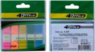 Закладки - разделители, клейкие, 12 х 45 мм, 5 цветов по 20л., PP, 4-427, 4Office