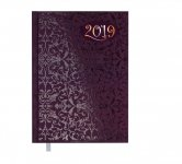Ежедневник датированный 2019 VINTAGE, A5, блок белый, фиолетовый (BM.2174-07)