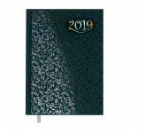 Ежедневник датированный 2019 VINTAGE, A5, блок белый, т.-бирюзовый (BM.2174-35)