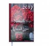 Ежедневник датированный 2019 ROMANTIC, A6, блок белый, красный (BM.2561-05)