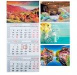Календарь настенный квартальный на 2019 г. (3 пружины) (BM.2105)