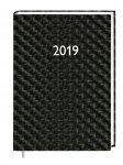 Ежедневник датированный 2019 HYBRID, A6, блок белый, коричневый (242-1322)