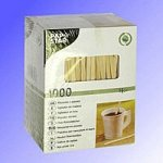 Мешалка деревянная ЭКО  14 см, 1000 шт в картонной упаковке, (20уп/я)