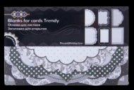 Набор заготовок для открыток TRENDY, 18 шт.