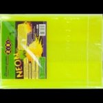 Обложка для книги NEON с клапаном, желтая, KIDS Line
