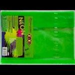 PreviousNext Обложка для книги NEON с клапаном, салатовая, KIDS Line