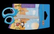 PreviousNext Ножницы 128мм с резиновыми вставками на ручках , синие, KIDS Line