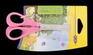 Ножницы детские 130 мм с пластиковыми 3D-ручками, розовые, KIDS Line