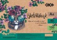 Скетчбук А4, 40 листов, пружина, кремовый блок 100 г/м2, ART Line