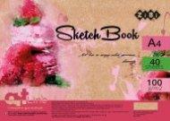 Скетчбук А4, 40 листов, пружина, белый блок 100 г/м2, ART Line