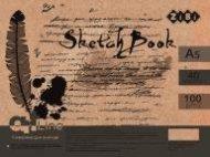 PreviousNext Скетчбук А5, 40 листов, пружина, кремовый блок 100 г/м2