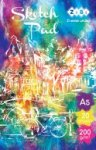 Скетчпад для акварели, А5, 20 листов, 200г/м2, клееный блок, ART Line
