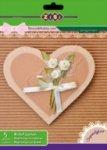 Основа для открыток из гофрокартона А5, 5 цветов: 5 листов